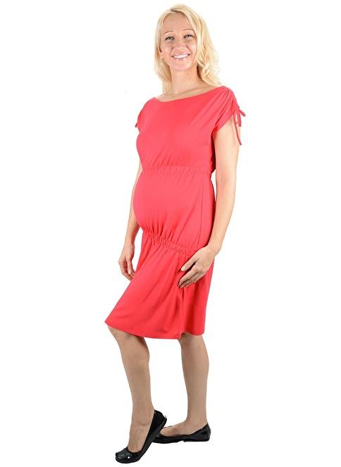 Motherway Maternity Elbise Kırmızı